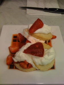 Cointreau Strawberries w/ Lemon Chantilly on a Lemon Shortcake