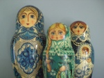 Russian stacking dolls ...given to us by the in-laws.  I LOVE these things!