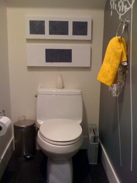 half bath tour courtney out loud. Black Bedroom Furniture Sets. Home Design Ideas