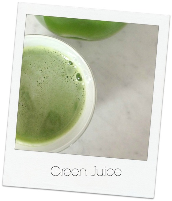 green-juice polaroid