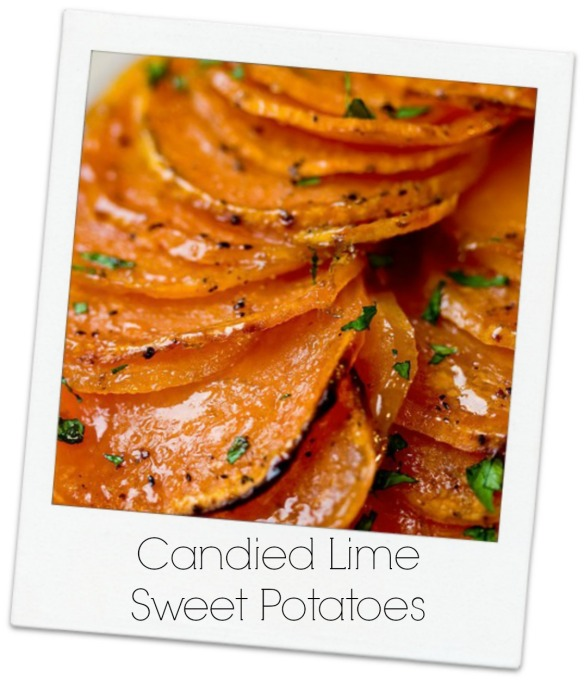 Polaroid Candied Lime Sweet Potatoes