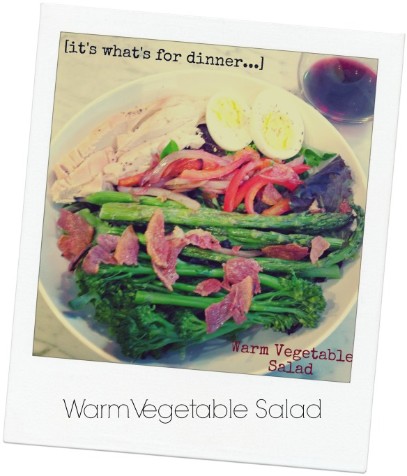 Warm Vegetable Salad polaroid