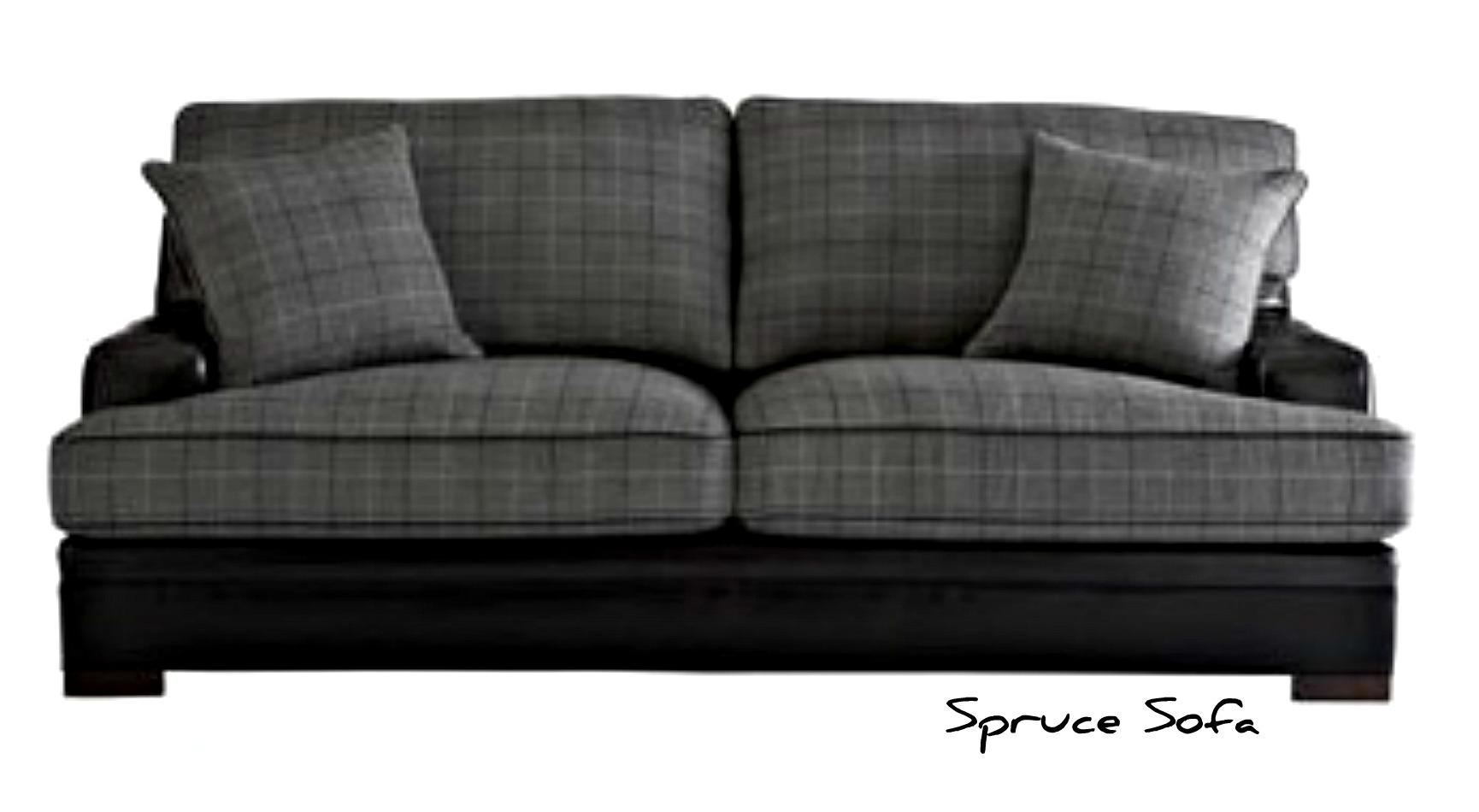 Small Blue Plaid Sofa Furniture