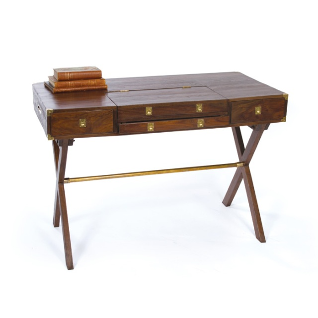 Antique Campaign Desk Woodworking Plans aurora pedestal desk plans