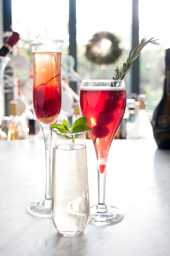 Festive Champagne Cocktails