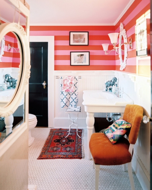 striped walls lisa sherry lonny magazine