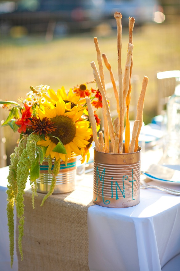 Valley and Co Tin Can Centerpiece