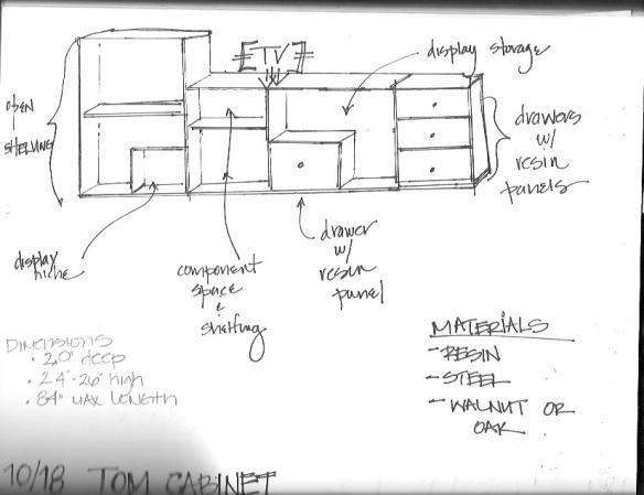 Media Console Sketch_Oct23