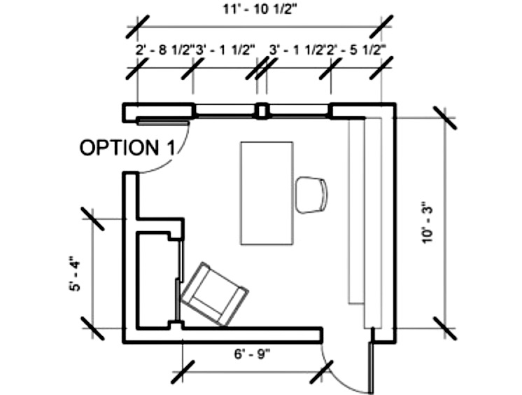 Woodwork office desk floor plans pdf plans for Typical office floor plan