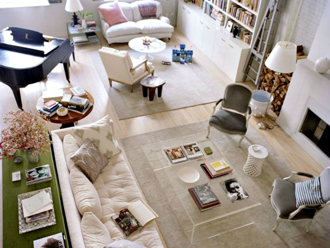 Breathing room long living room courtney out loud for Best seating arrangement for small living room